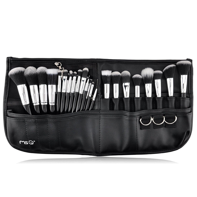 870c70ed4922 MSQ Makeup Brushes Set 29pcs Professional Cosmetics Brushes with Belt Waist  Makeup Bag (Foundation, Powder, Creams, Liquids & Eye Brushes) for Artists  ...