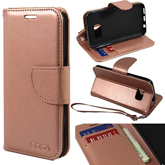 new arrivals eb38c 52155 Galaxy S7 Case, Samsung Galaxy S7 Wallet Case, SOGAÂ [Pocketbook Series] PU  Leather Magnetic Flip Credit Card Wallet Case for Samsung Galaxy S7 - ...