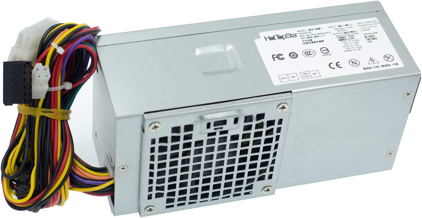 HotTopStar Power Supply Unit PSU for DELL Optiplex 390 790 990 3010 Inspiron 537s 540s 545s 546s 560s 570s 580s 620s Vostro 200s 220s 230s 260s 400s Studio 540s 537s 560s 250W Slim Desktop DT Systems