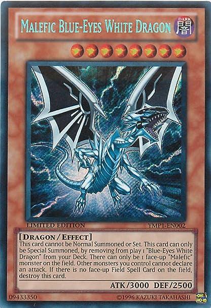 yugioh Malefic Blue-Eyes White Dragon YMP1-EN002 SECRET RARE LIMITED EDITION NEW