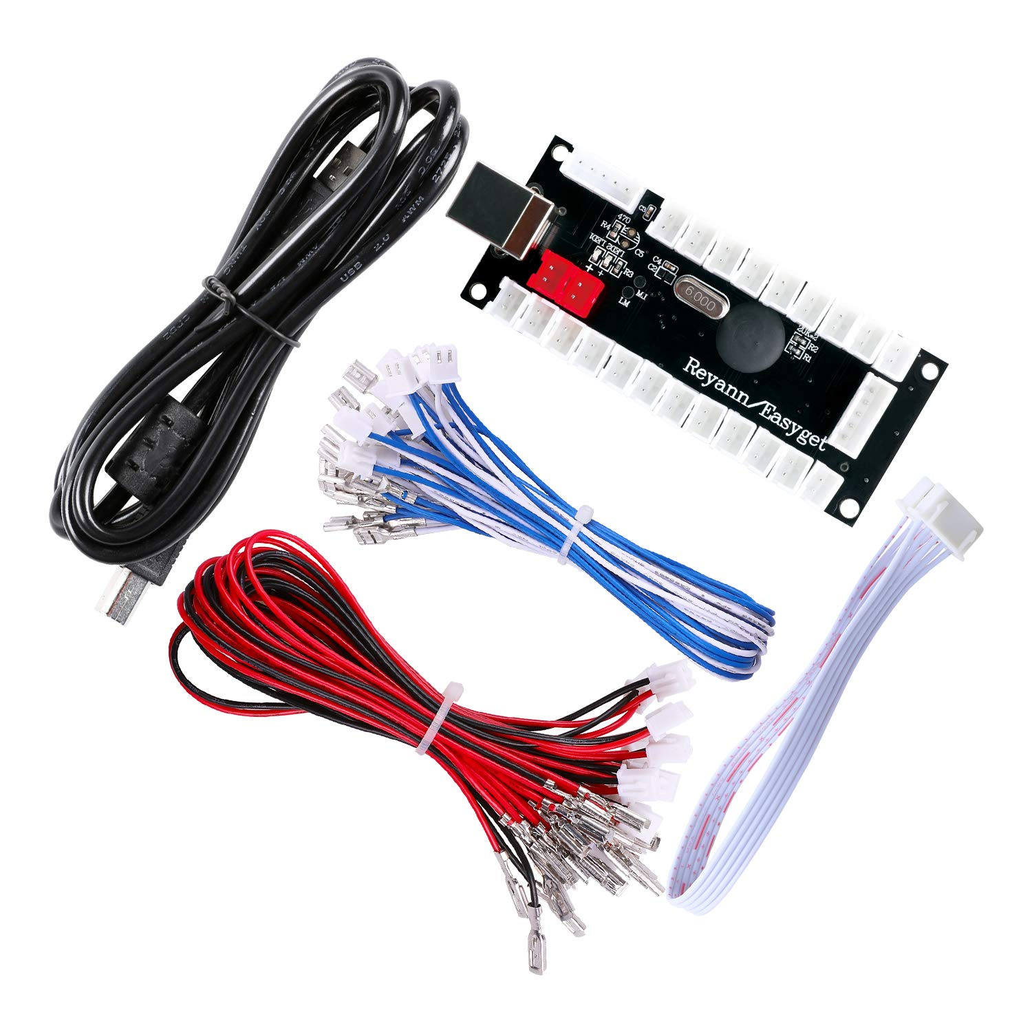 Hikig Zero Delay Arcade USB Encoder and Cables Terminal: 5pin - 4.8mm - 2.8mm Kit to Joystick and Buttons for MAME /& Raspberry Pi Retropie Projects