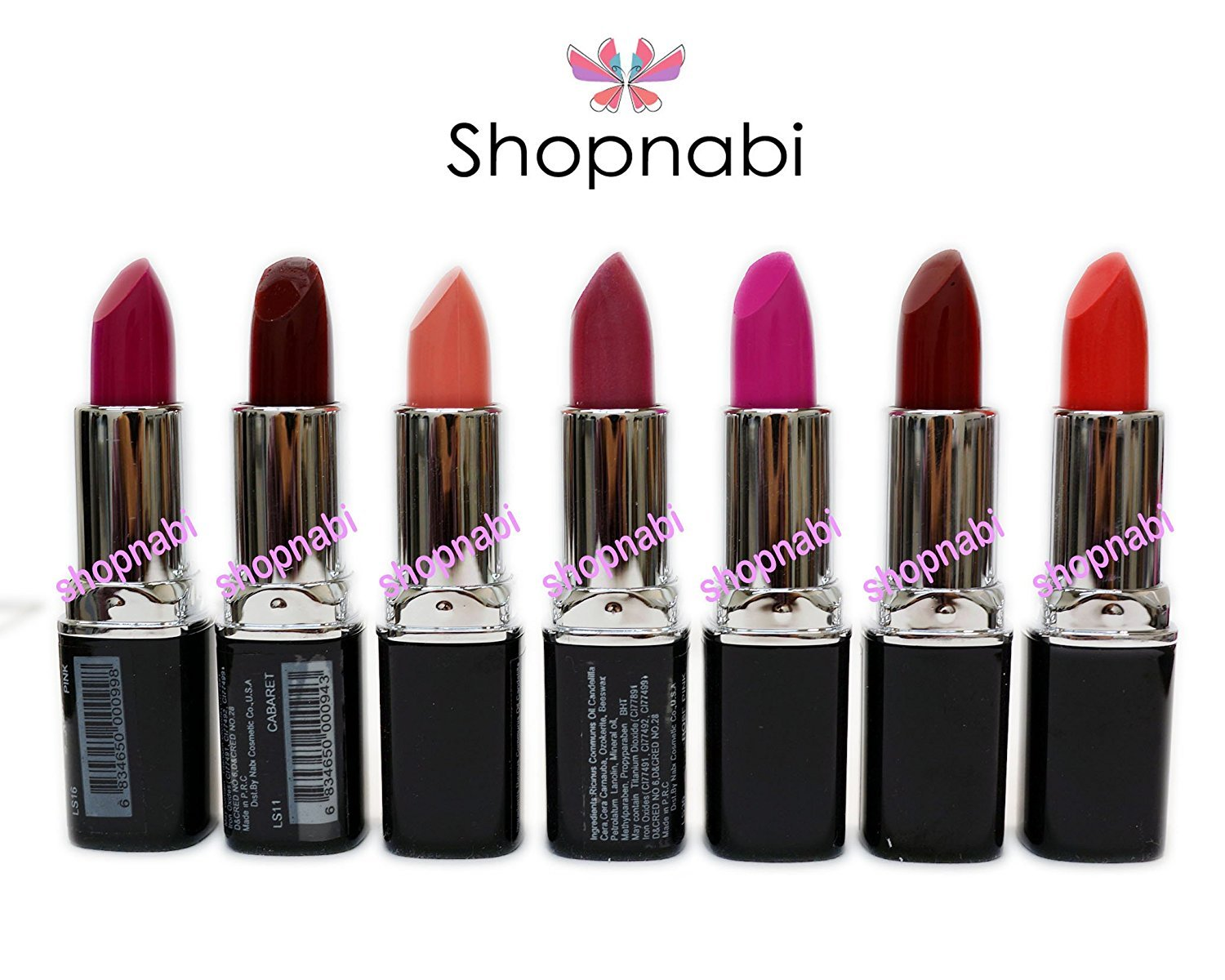 Cheap 7pcs Lipstick Nabi Round Lipsticks free shipping