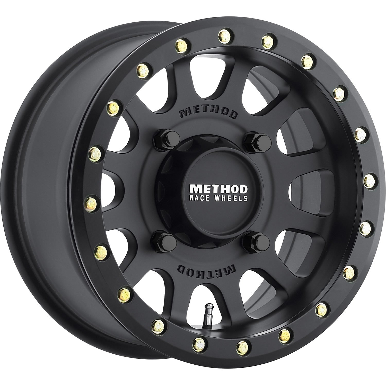 Method Race Wheels MR401 Matte Black Wheel with Grade 8 Beadlock Bolts (15x7'/4x156mm) 13 mm offset MR40157046543B