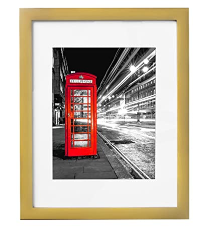 Amazon.com - 11x14 Gold Picture Frame - Made to Display Pictures ...