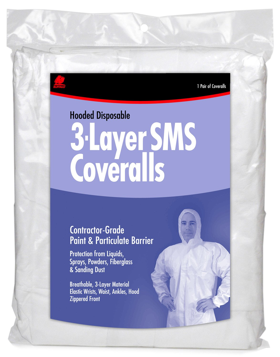 Buffalo Industries (68523) Hooded SMS Disposable Coverall - Size XX-Large