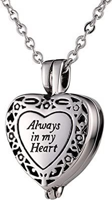 coeur pour collier homme