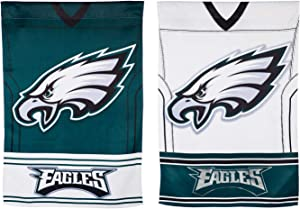 Team Sports America Double Sided Jersey Flag for Eagles Fans! Officially Licensed Philadelphia Eagles Weather and Fade Resistant Outdoor Flag 43 x 29 Inches