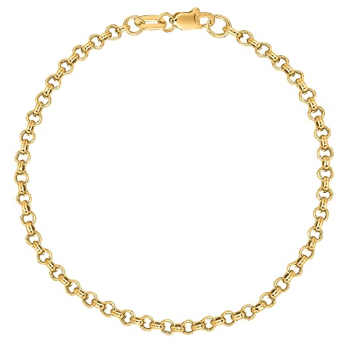 p silver figaro gold sterling v over bonding anklet chain pav