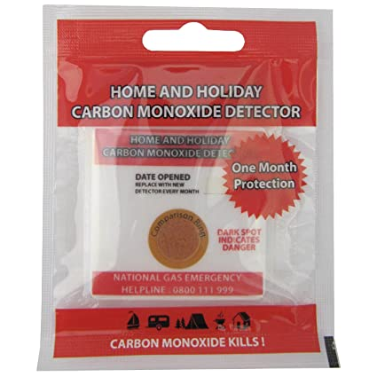Linterna casa y vacaciones de monóxido de carbono Detector de parche