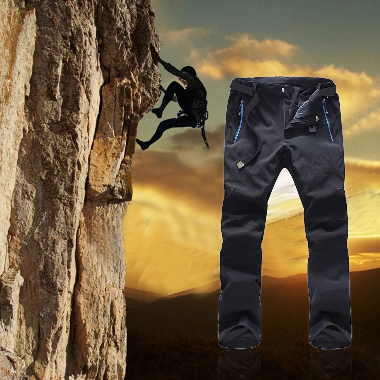 Naudamp Pantalones Deportivos para Hombre de Secado rápido al Aire Libre Pantalones de Escalada Casuales Resistentes al Agua Transpirables