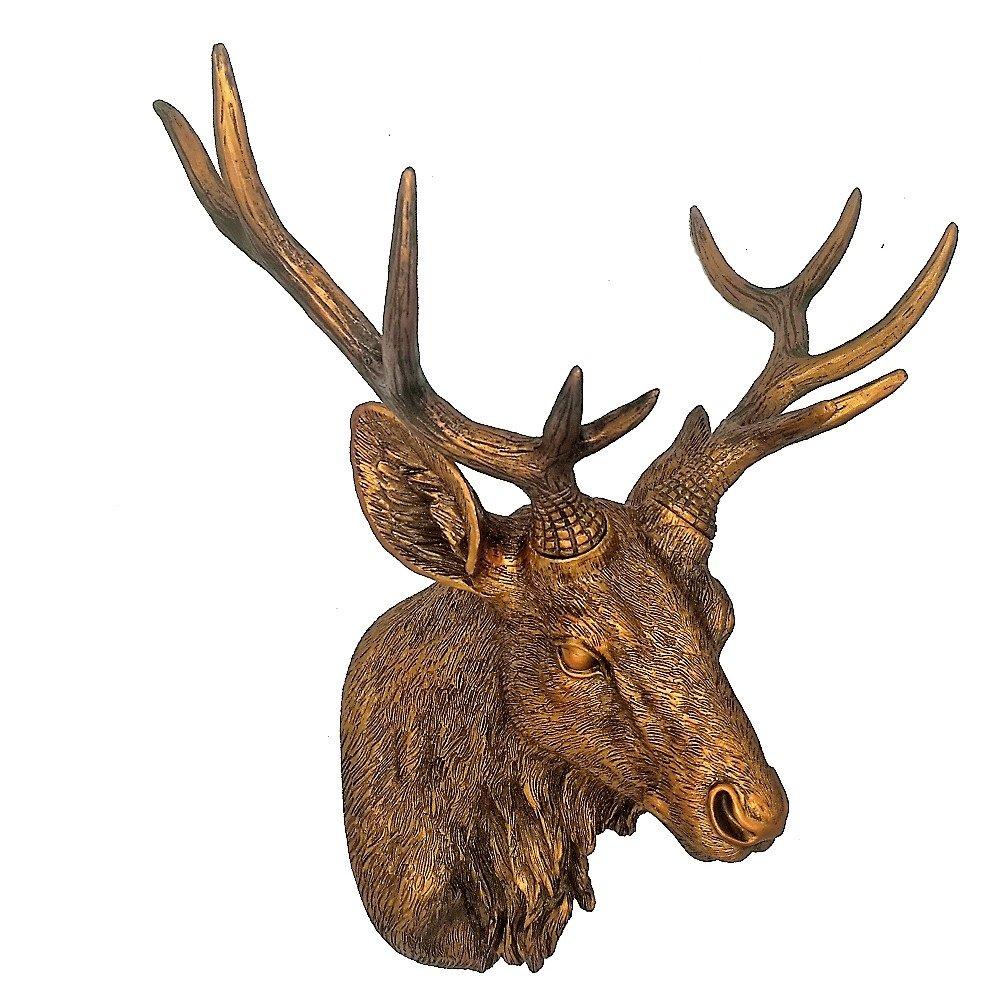 Deer Head Mount >> Amazon Com Tenofo Deer Head Mount Wall Sculpture 18 Inches Gold