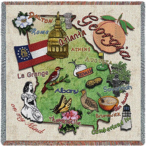 Pure Country Inc. Georgia State Small Blanket Tapestry (Georgia Tapestry)
