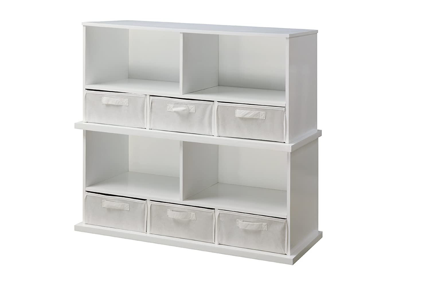 Amazon.com : Badger Basket Shelf Storage Cubby With Three Baskets, White :  Nursery Storage Baskets : Baby
