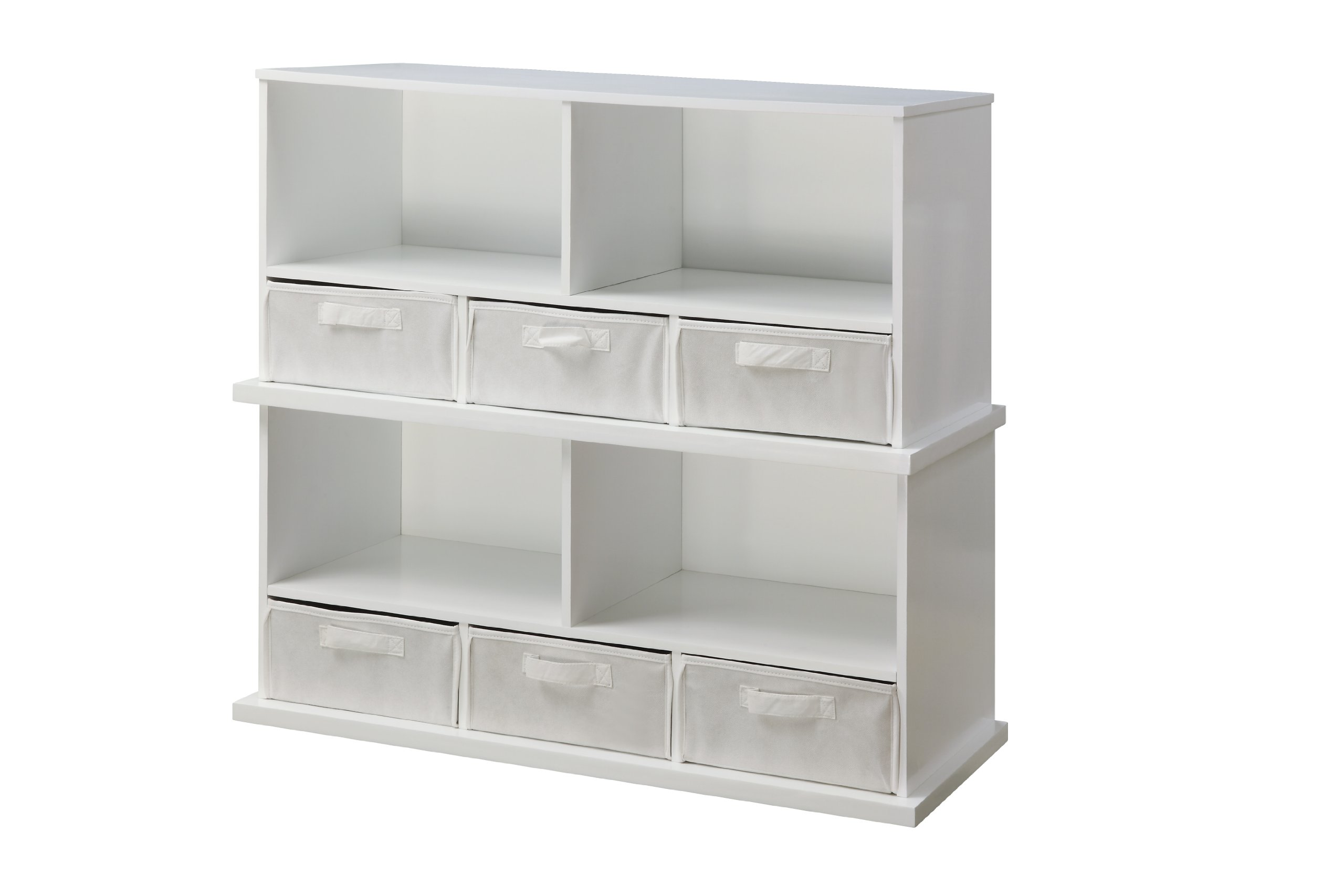 Badger Basket Shelf Storage Cubby with Three Baskets, White by Badger Basket (Image #4)