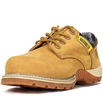 ROCKROOSTER Work Boots for Men, Composite Toe, Waterproof Leather Safety Shoes, Non-Slip, Anti-Fatigue(AP238, 8)   Industrial & Construction Boots