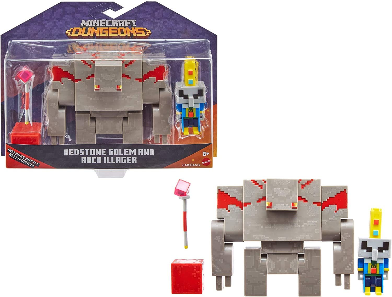 Minecraft Dungeons Illiager & Golem Figures