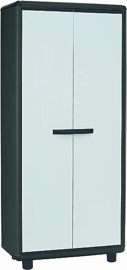 Armario PVC, gris claro h tuttopiani cm, 170 x 70 x 39: Amazon.es: Oficina y papelería