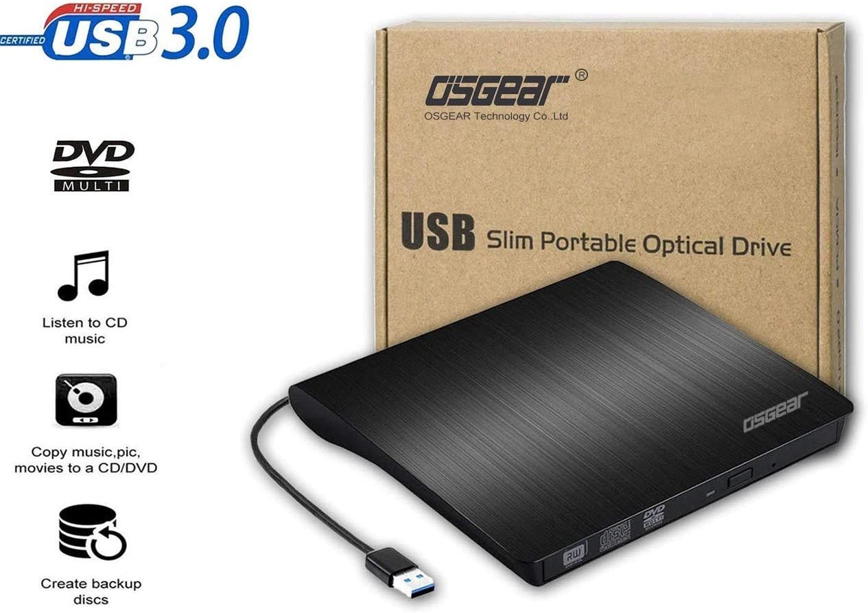 OSST USB3.0 Slim Portable Grabadora Externa de CD y DVD RW ROM ...