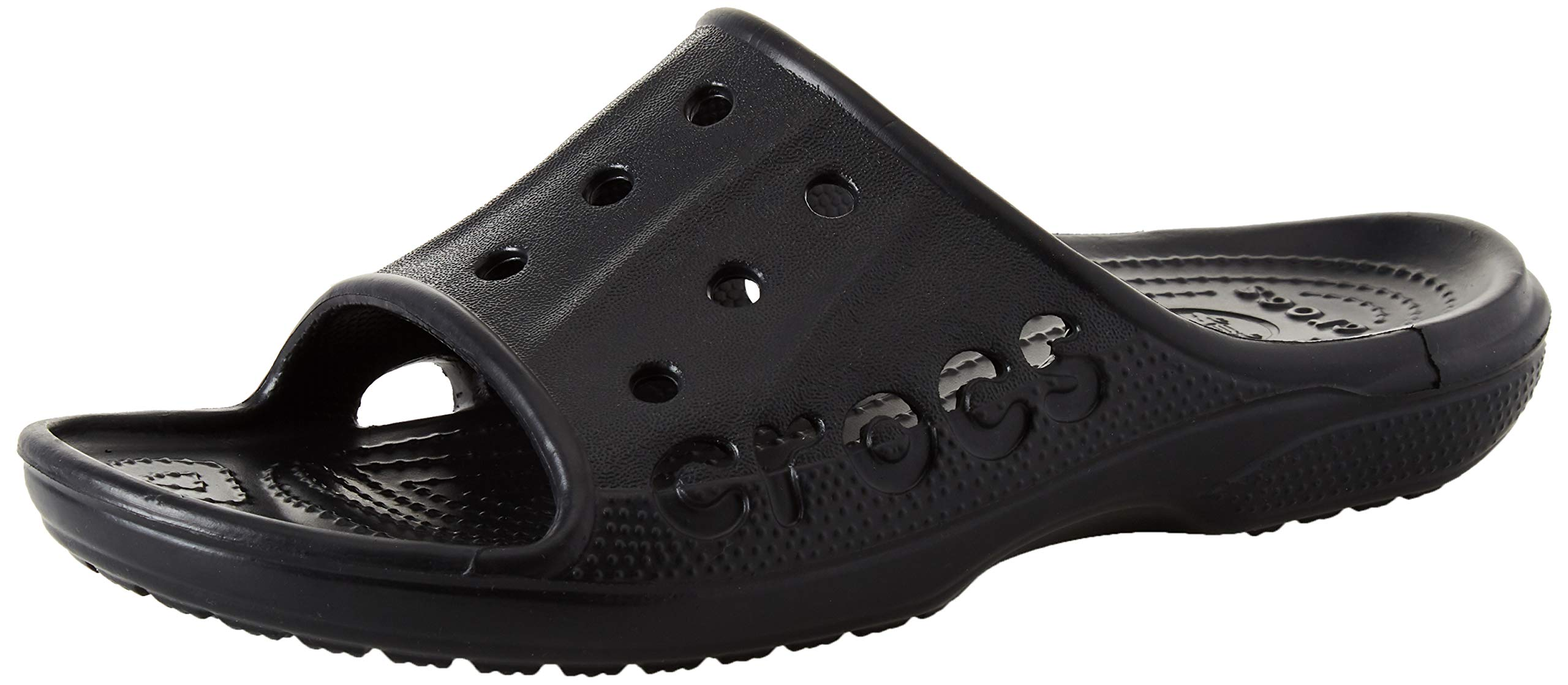 Crocs Unisex Baya Slide, Black, 10 M US Men / 12 M US Women