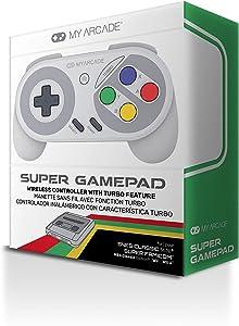 My Arcade Super Gamepad - Wireless Gaming Controller for Nintendo SNES Classic, NES Classic, Super Famicom, Wii, Wii U (Super Famicom Colors)