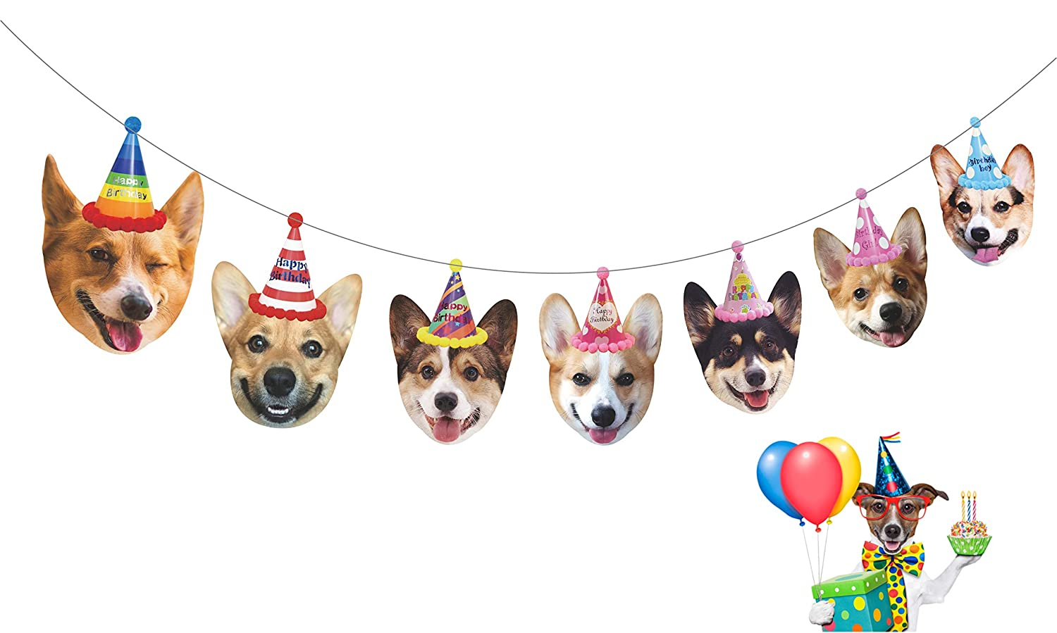 DOG 1ST BIRTHDAY BANNER PARTY BUNTING