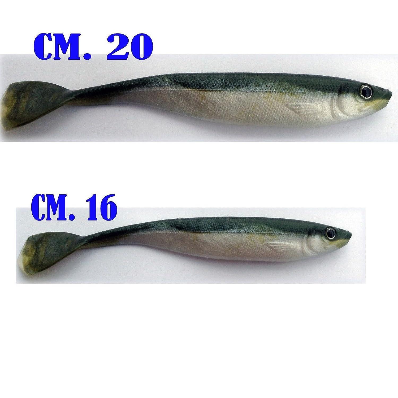 Generico Pesce di Gomma Pesci Artificiale Esca Silicone traina Mare spigola Serra Canna Spinning