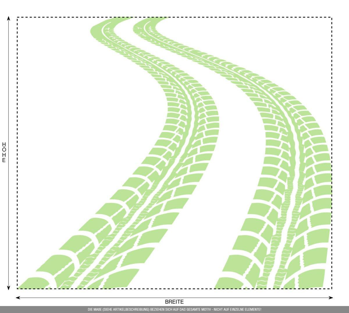 CLICKANDPRINT Aufkleber » Reifen-Spuren, 120x103,7cm, Schwarz • Wandtattoo Wandtattoo Wandtattoo   Wandaufkleber   Wandsticker   Wanddeko   Vinyl B01NAMPVI1 Wandtattoos & Wandbilder d9a64d