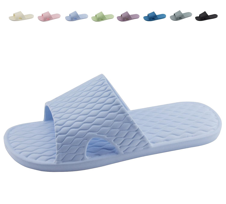 Shower Bath Slippers Women and Men Non-Slip Home Bathroom Sandals Indoor Outdoor Soft Shoes