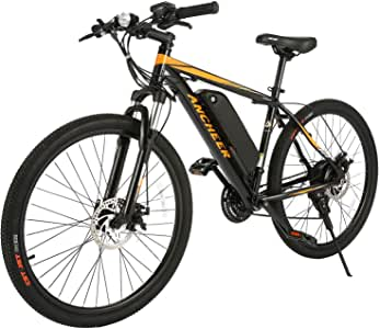 ANCHEER 350/500W Electric Bike 26/27.5'' Adults Electric Bicycle/Electric Mountain Bike, 20MPH Ebike with Removable 7.8/10/10.4Ah Battery, Professional 21/24 Speed Gears