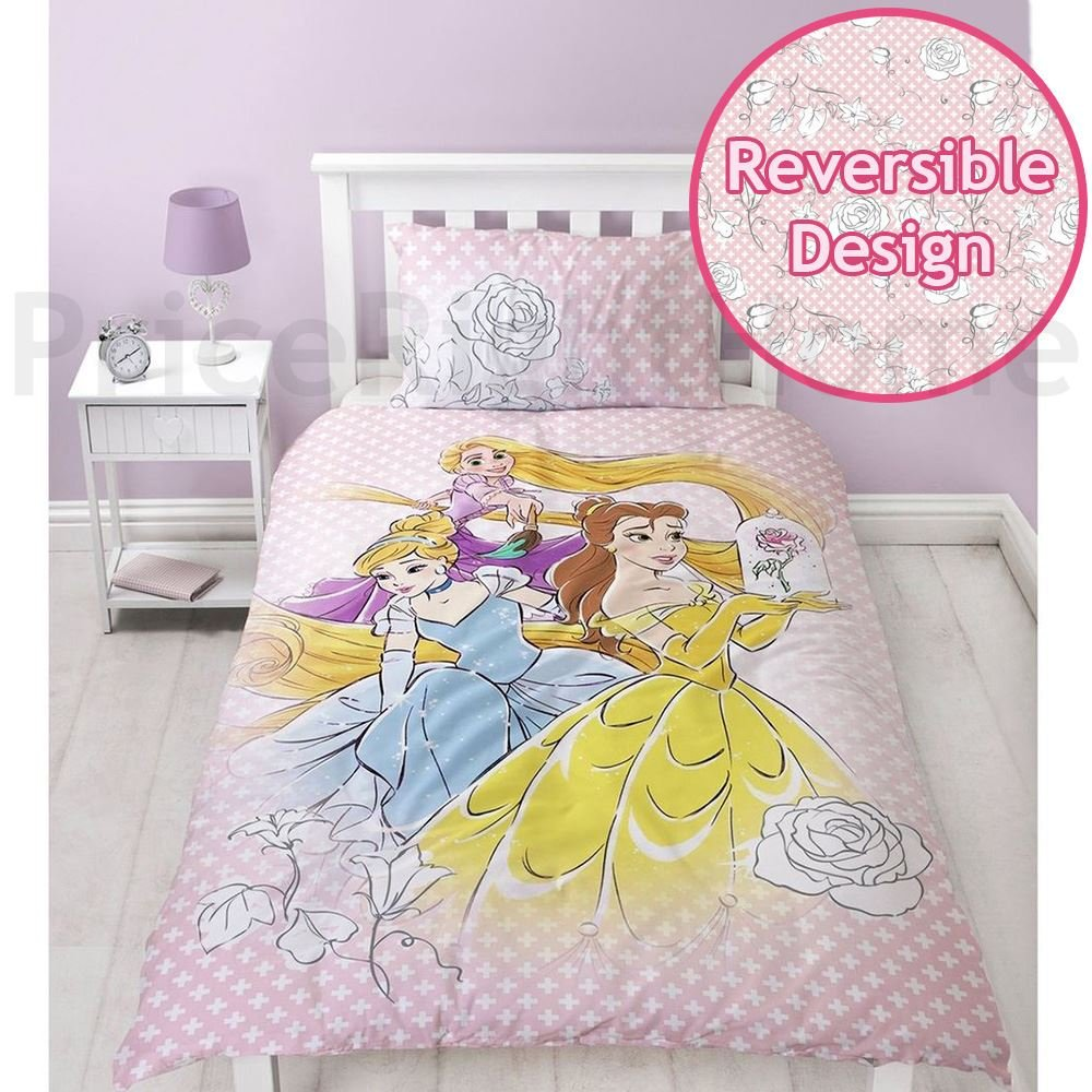 Disney Princess Magic Single Duvet Cover and Pillowcase Set Texco Direct