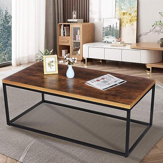 EXCLVEA Mesa con Estilo Moderno Cualquier habitación Marco Moderno ...