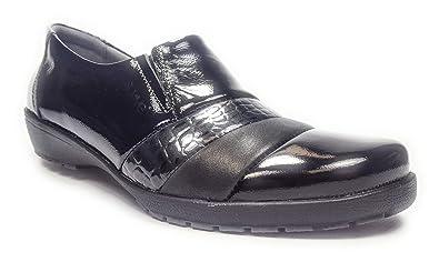 Suave 8063HC Noir - Chaussures Mocassins Femme