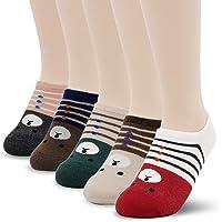 Cute Cotton Funny Design Novelty Fall Winter Heart Crew Ankle Socks for Women