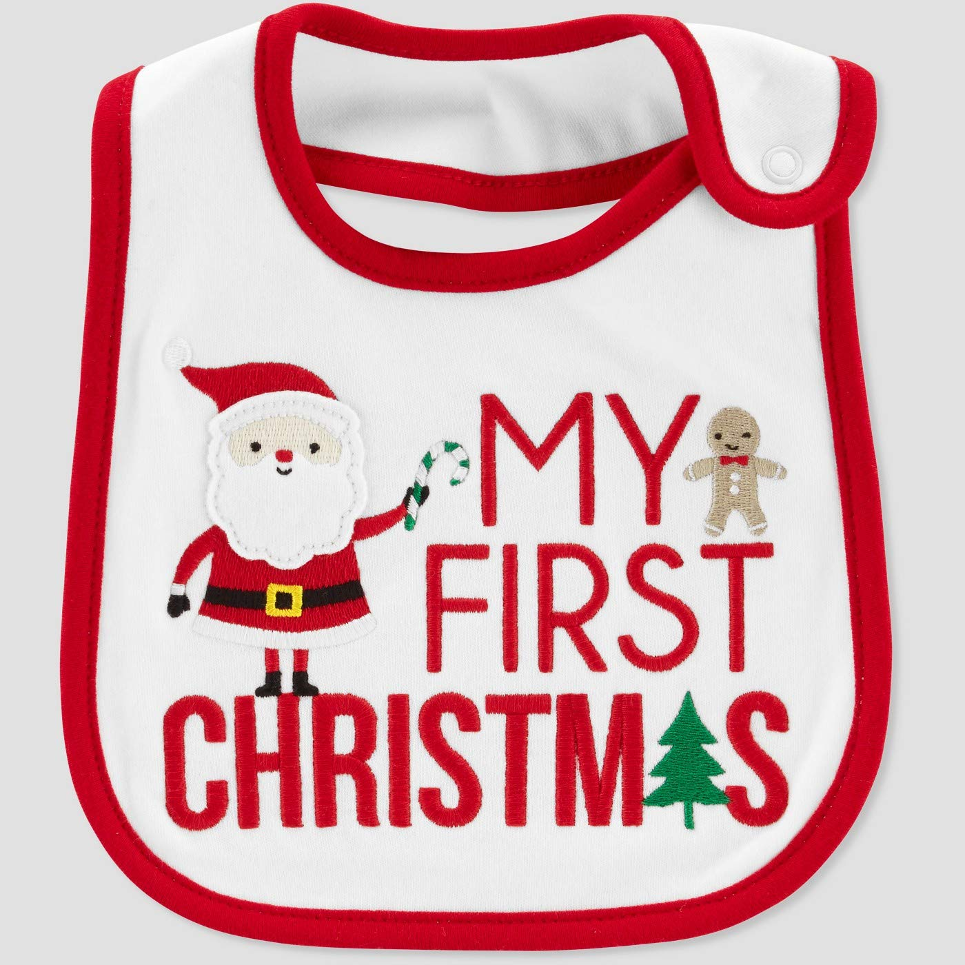 Just One You My First Christmas Teething Bib Carter' s