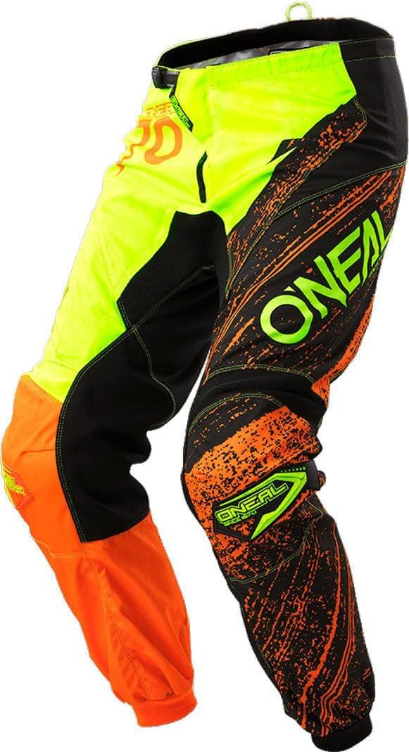38 Vita = Eu 52 , Blu Pantaloni Motocross Oneal 2018 Element Burnout Nero-Blu-Hi Viz