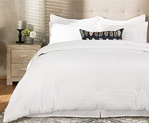 Super Soft 100/% Microfiber 8-Piece Solid Bedding Set Luxury Simple Bed in a Bag