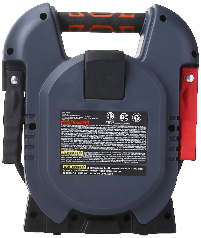 600 Peak//300 Instant Amps Battery Clamps USB Port BLACK+DECKER J312B Power Station Jump Starter
