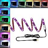 ANSCHE TV LED posteriore di illuminazione Kit, 150 centimetri 5V striscia USB RGB LED, impermeabile Bias Illuminazione per HDTV e PC Monitor (ridurre l'effetto occhi fatica e aumentare la nitidezza delle immagini)