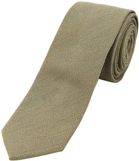 David Van Hagen Verde Oliva llano Lana corbata delgada Rich ...