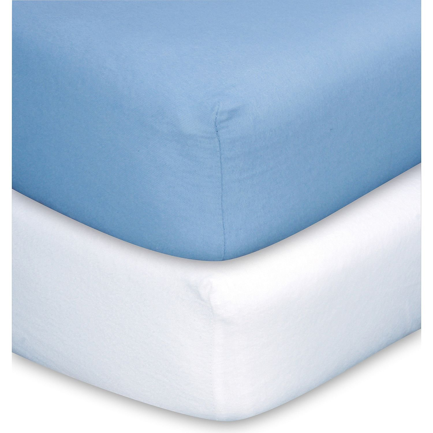 Trend Lab Crib Sheets Blue & White- Pack of 5 - (Original from manufacturer - Bulk Discount available)