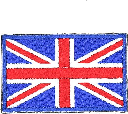 Reino Unido España Alemania Italia Francia bandera nacional bordado parche insignia Velcro trasero táctica parches United Kingdom: Amazon.es: Hogar