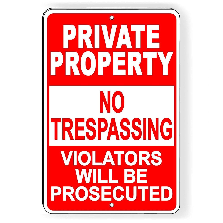 Dozili - Carteles de Propiedad privada sin trapeado (Rojo ...
