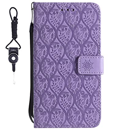 marchio famoso economico per lo sconto arriva nuovo SsHhUu Custodia Huawei P20, Cover Portafoglio in Vera PU Pelle ...