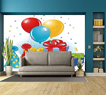 Amazon Com Large Wall Mural Sticker Birthday Decorations Slice Of