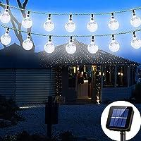Solar String Light 8 MODEL 20 ft 30LED Globe Outdoor String Light Lighting for Indoor Christmas Home Patio Lawn Garden…