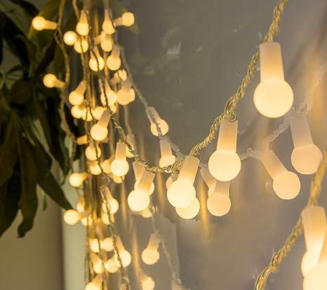 Luces Led Cálidas con Bombillas Impermeables para Decorar Exteriores 10M 100LED, Terrazas Chill Out, Porches, Jardines, Fiestas, Navidad, Guirnaldas Led con ...