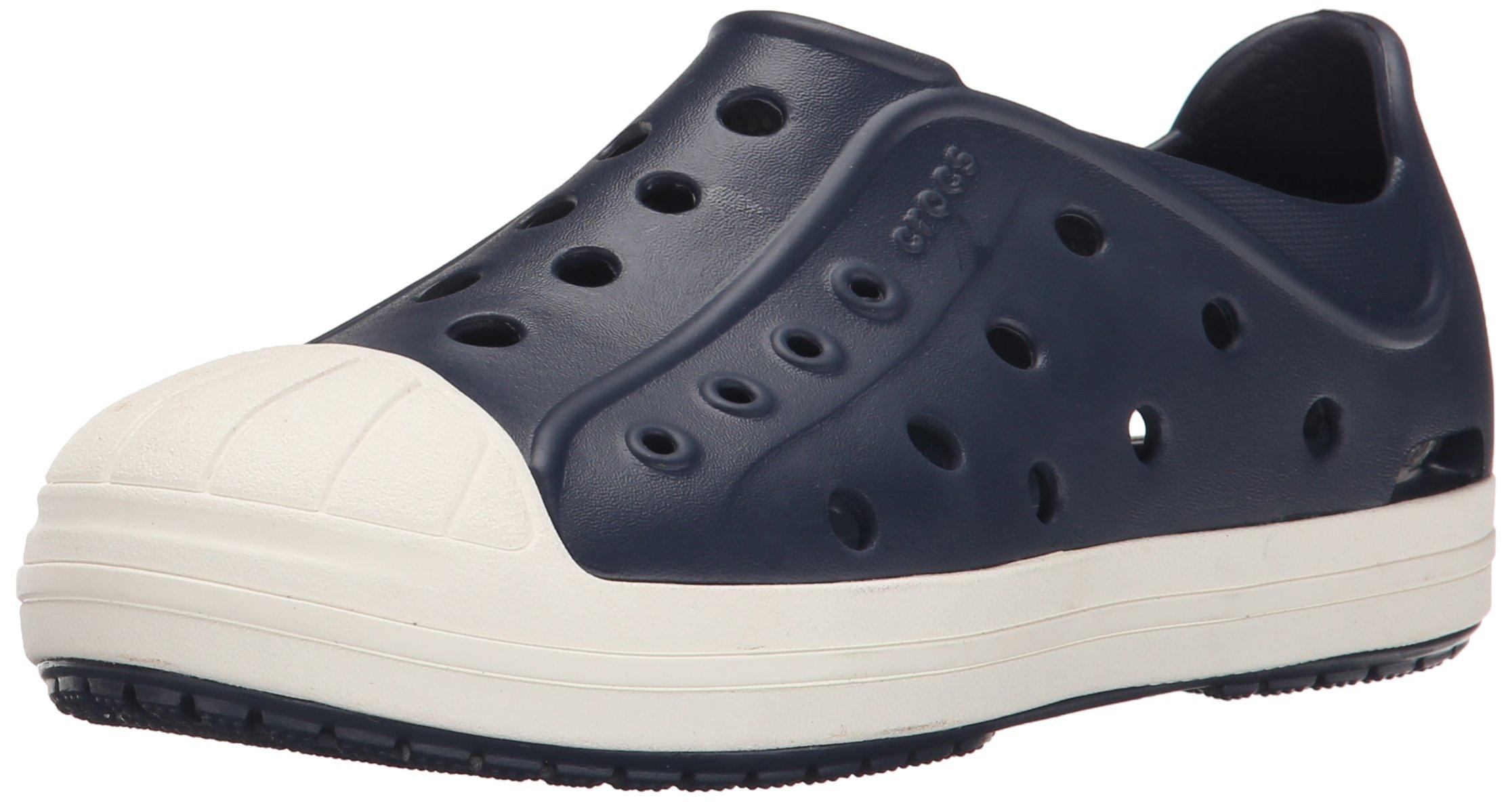 crocs Bump It Shoe Slip-On Shoe (Toddler/Little Kid), Navy/Oyster, 6 M US Toddler by Crocs