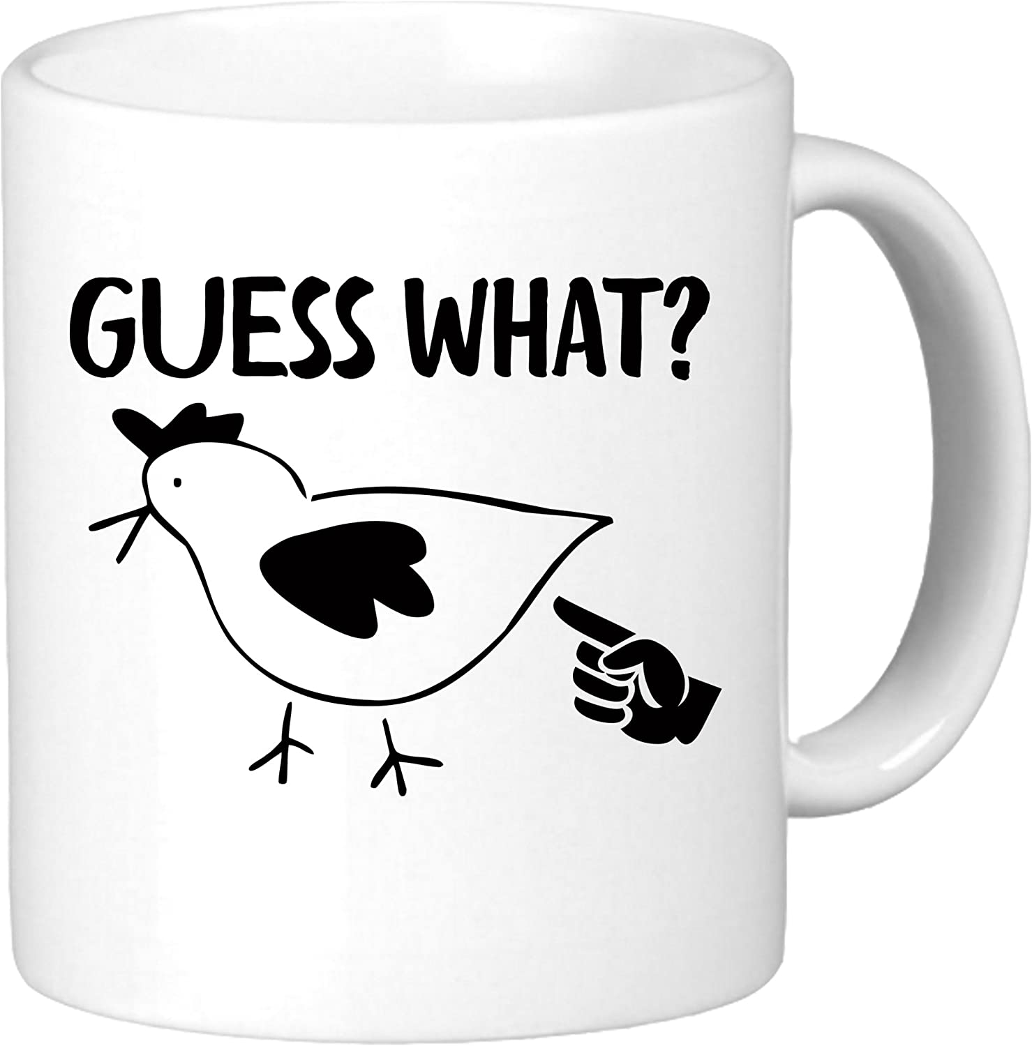 Guess What Chicken Butt Funny Coffee Mug