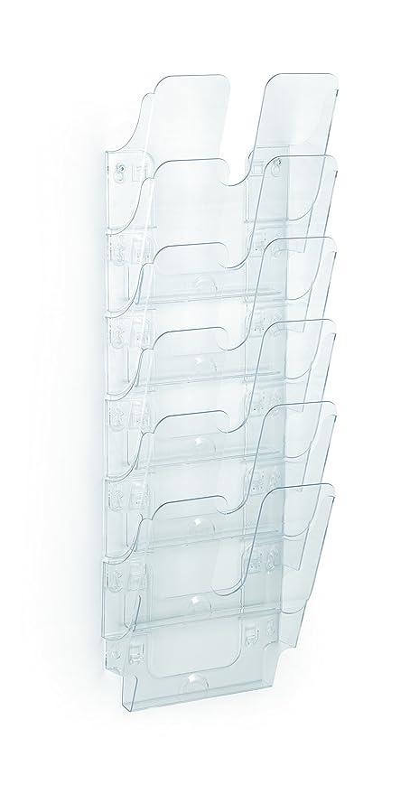 Durable FlexiPlus 1700008401 - Dispensador de folletos (tamaño A4, vertical, 6 compartimentos)