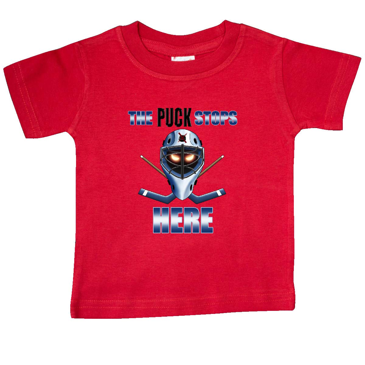inktastic The Puck Stops Here Baby T-Shirt